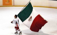 mexico flag ice
