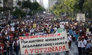 Marchas en apoyo a Ayotzinapa, en más de 20 ciudades de nuestro país.
